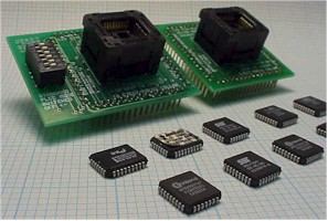 32 pin PLCC package adapters with PLCC parts