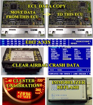 programming ECUs, airbag modules, digital clusters and engine immoblilzers